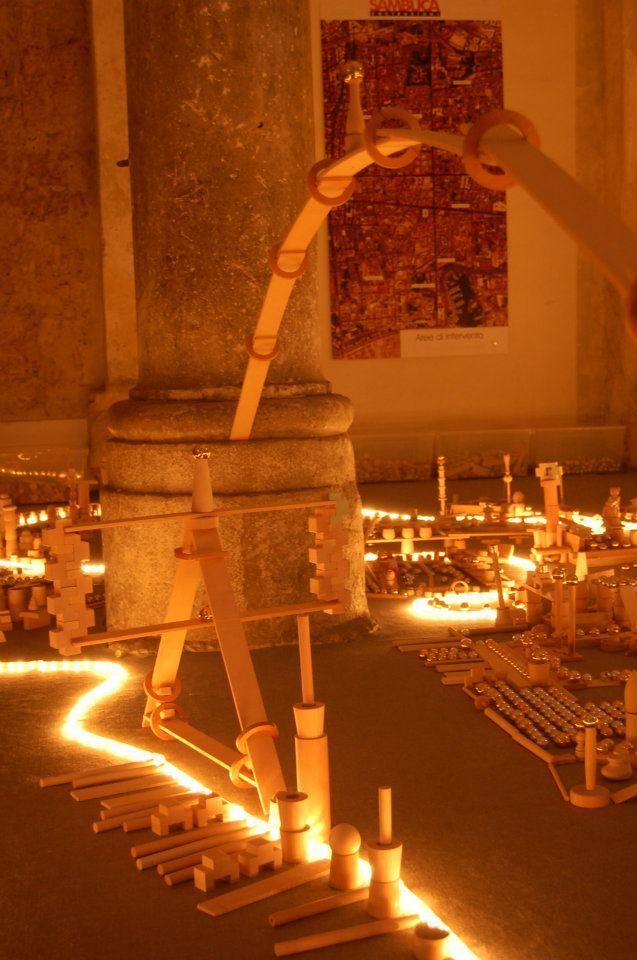 Blocks and light play at Cavallerizza Di Palazzo Sambuca ≈≈