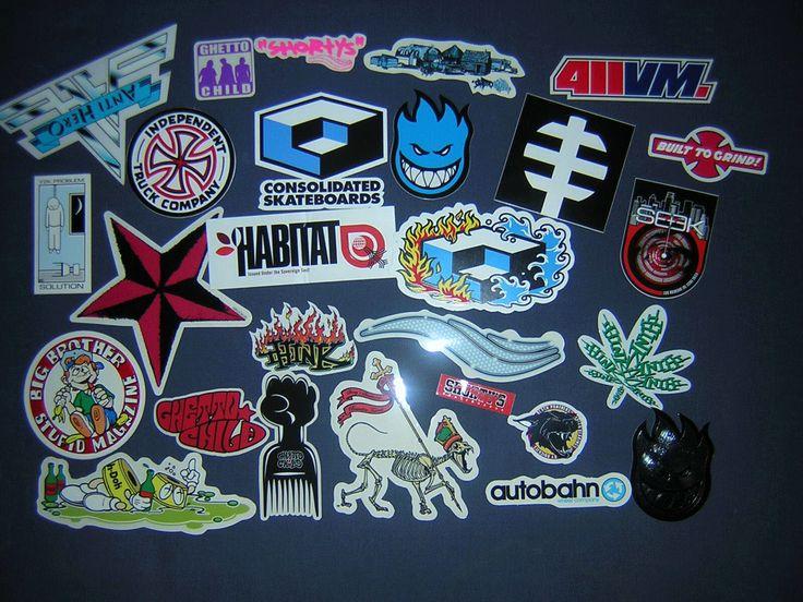 Stickerbomb Skate : 150 Classic Skateboard Stickers (Paperback)