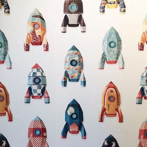 Studio Ditte Rockets Wallpaper Just Kids Wallpaper | Designer Wallpaper for Children's Rooms – JUST KIDS WALLPAPER™