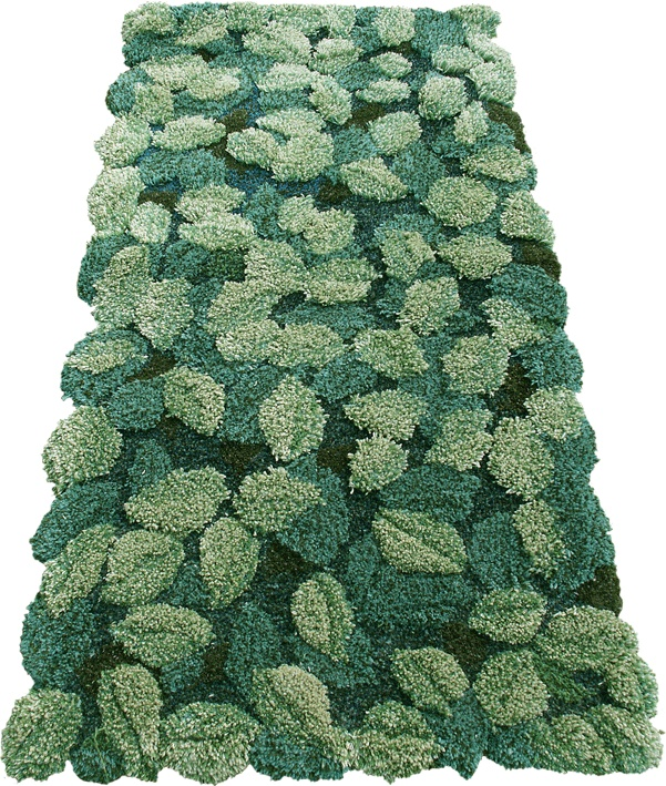 Foliage.   Handtufted rug by Tina Olsson