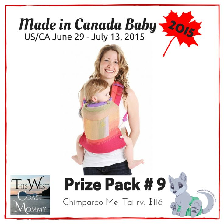 Win a Chimparoo Mei Tai through the Made in Canada Baby contest! Good luck!