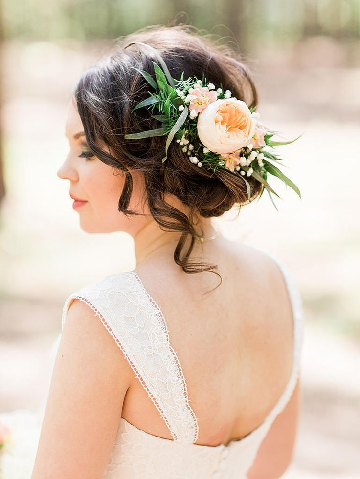 261 best bridal hair flowers images on Pinterest ...