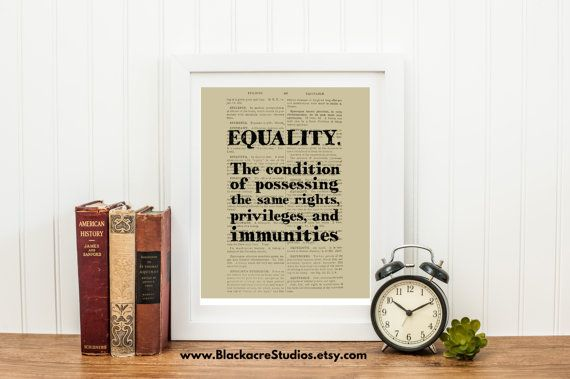 Equality - Equality Definition - Law Office Art - Law School Graduation Gift - Wall Decor - Instant Download - Attorney Art - Printable Art