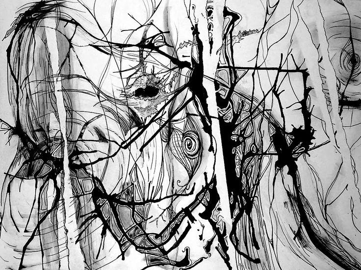 Abstracto con valores blanco y negro.