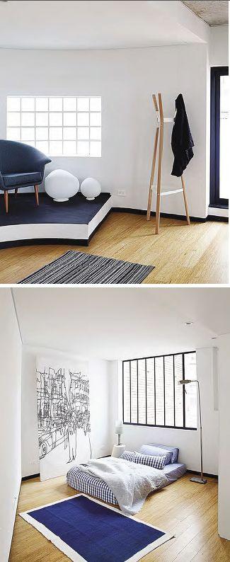 -De casa de habitación a cinco apartamentos y dos locales comerciales, Casa Trujillo ofrece espacios con rincones que los hacen únicos.    -Una vidriera de interesante patrón permite mantener bien iluminada la habitación. El piso de bambú contribuye a reflejar aún más la luz.