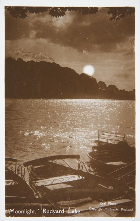 Old postcard of Rudyard Lake, Staffordshire