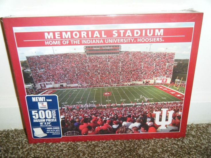 INDIANA IU UNIVERSITY Hoosiers Memorial Stadium 500 piece Jigsaw Puzzle MISB #TurnerLicensing #IndianaHoosiers