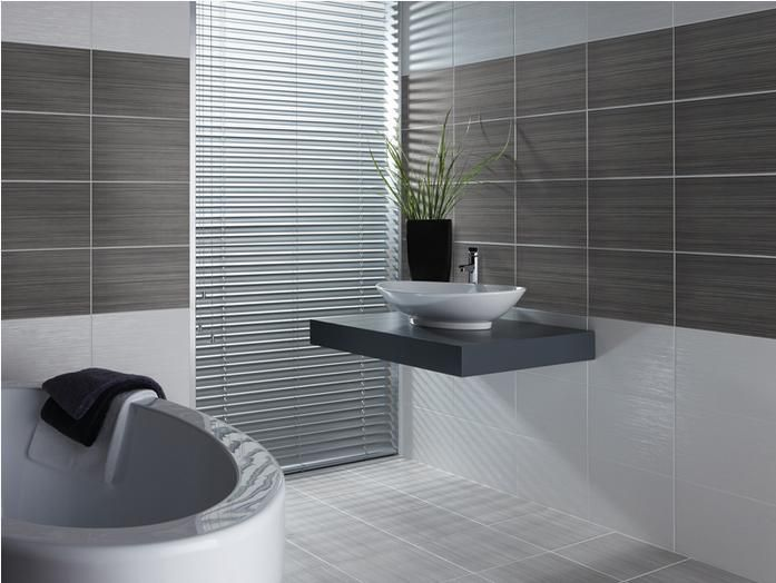 Willow Dark Grey And White Tile By BCT . Use As A Bathroom Wall Tile With  The Willow Light Grey Wall Tile. Part 67