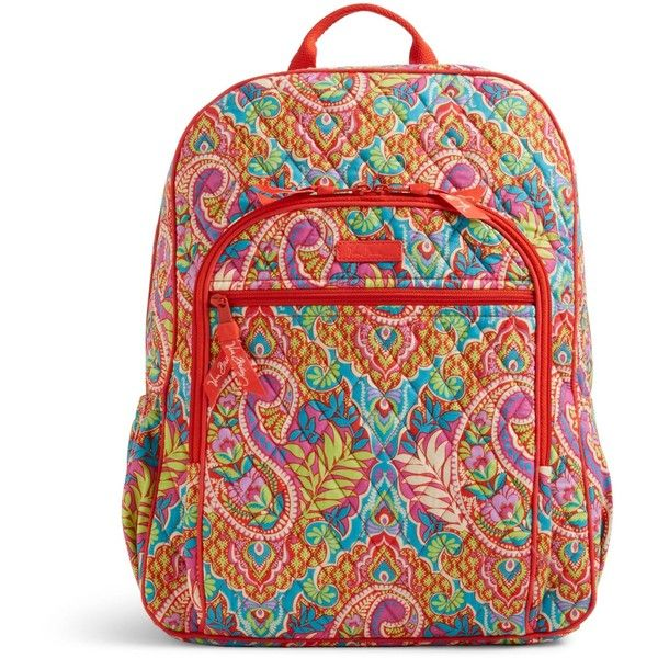 Vera Bradley Campus Backpack in Paisley in Paradise ($109) ❤ liked on Polyvore featuring bags, backpacks, paisley in paradise, backpacks bags, cross-body bags, paisley bag, pocket backpack and day pack backpack