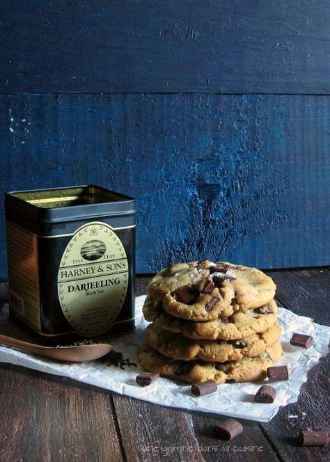 Dark Chocolate Chunk & Darjeeling Tea Cookies | une gamine dans la cuisine