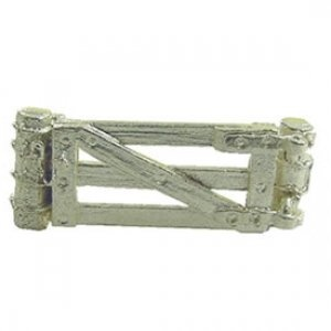 Sterling Silver 3-Bar Gate Charm, NZD$52.00. Gates are placed in a fence lines to gain accessfrom one paddock to another. They are made of wood or pipe. Exclusive to Cameron Jewellery