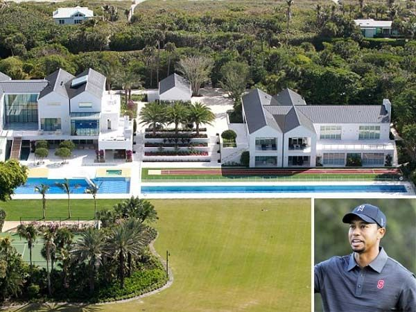 Golfer Tiger Woods moved into a plush bachelor pad worth a cool 60 million. Located in Florida.