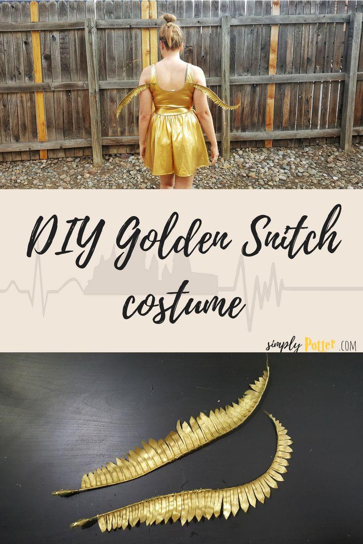 golden snitch costume, pinterest, harry potter