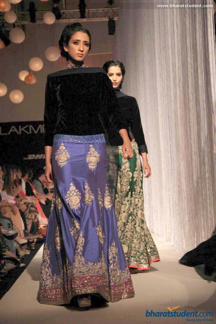 Lengha by Manish Malhotra at LFW 2013