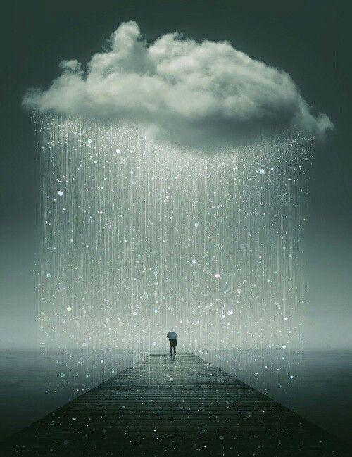 I never feel more blissful like when it rains.