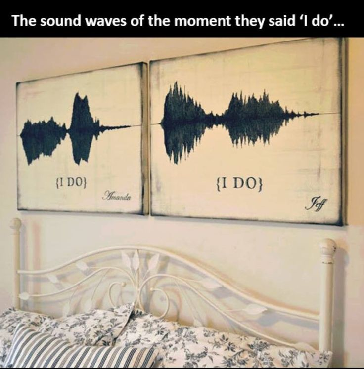 Sound waves of the momend they said 'I do'