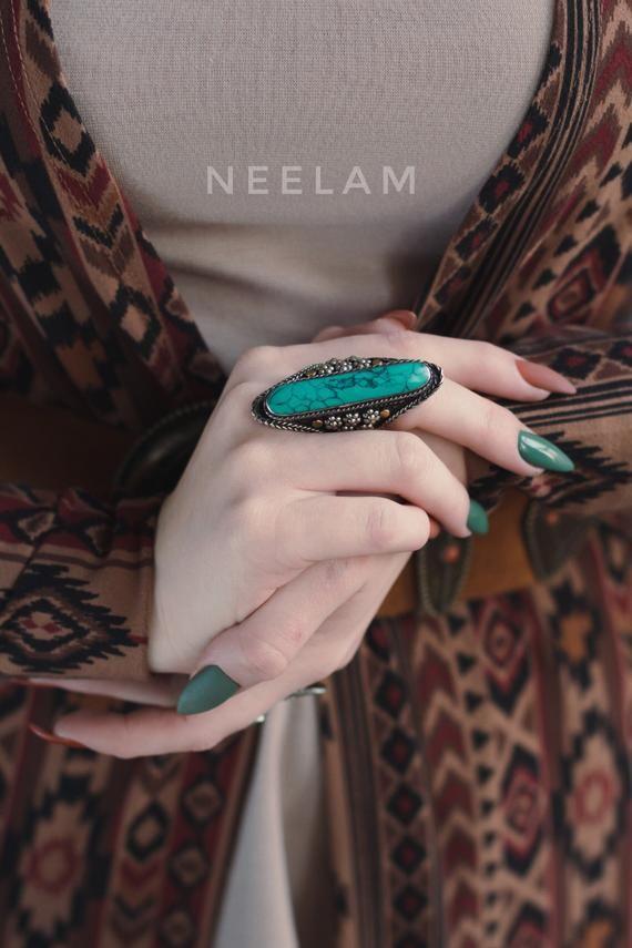 Kuchi Pashtun Jewellery Afghan turquoise ring 10 size bohemian massive ring,Tribal Jewellery Ethnic Jewellry ring noma Kuchi Large Ring