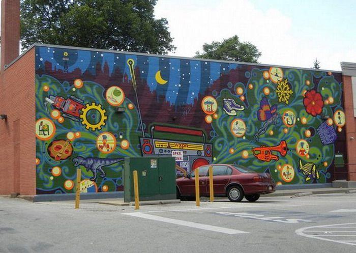 OUTDOOR murals | Outdoor Wall Murals... | Murals | Pinterest