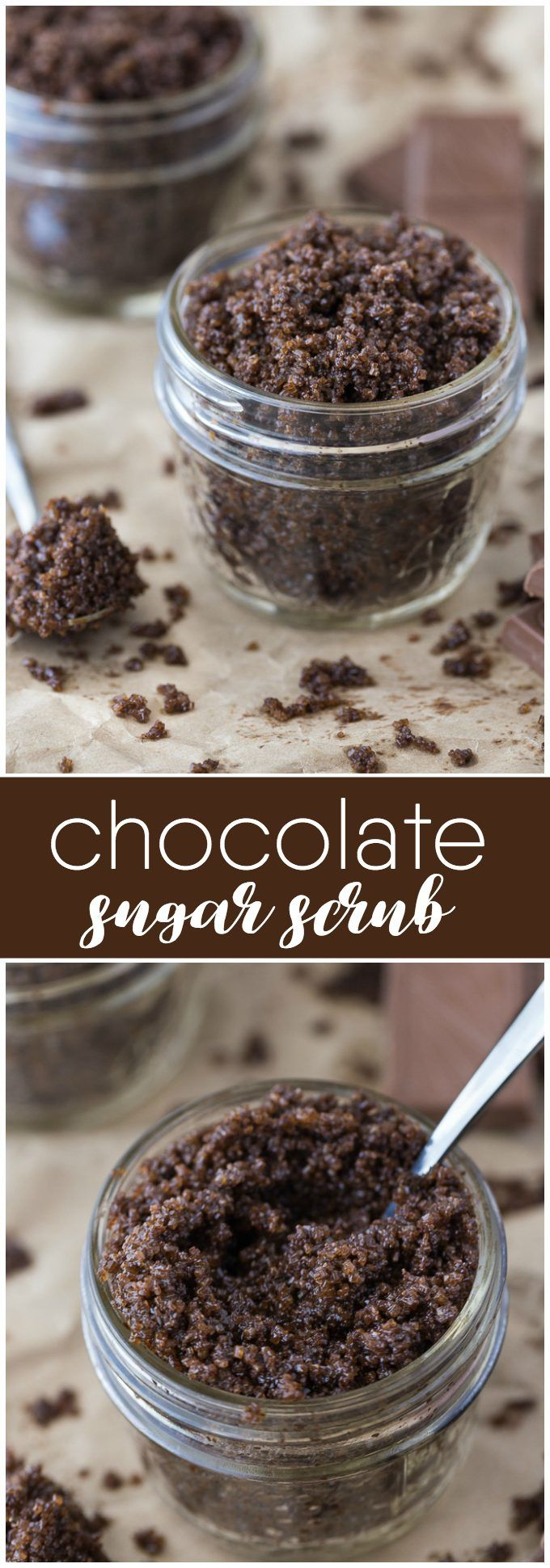 Chocolate Sugar Scrub - Luxurious and decadent! You may be tempted to eat this sweet scrub, but resist if you can. It feels amazing on your skin.