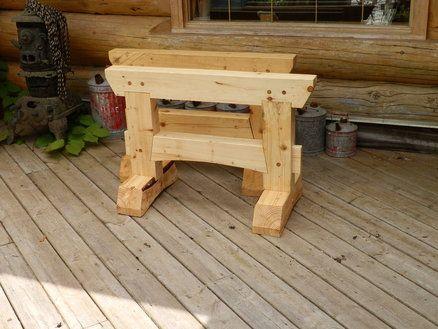 timber frame trestle ponies