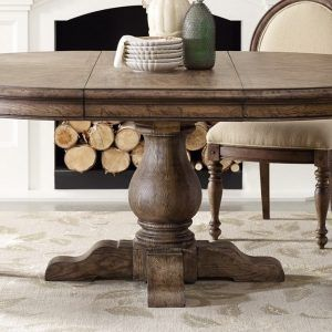 Round Pedestal Dining Room Table With Leaf Home Dining Room