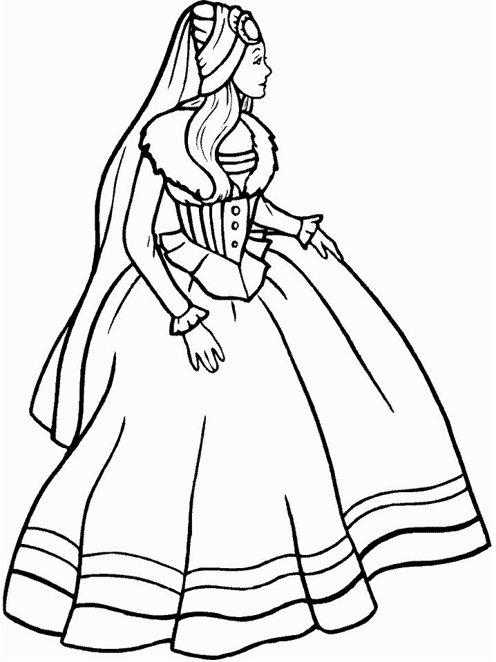 Medieval Princess Coloring Page