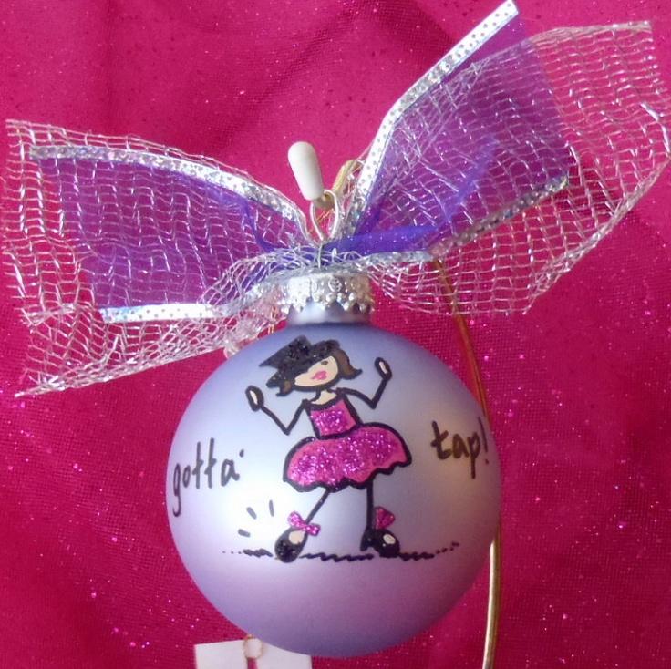 Ballet Tap or Hip Hop Dance Girls teacher Christmas Ornament Gift. $12.00, via Etsy.