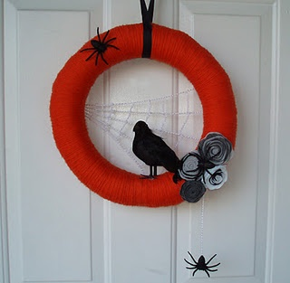 my Halloween yarn wreath