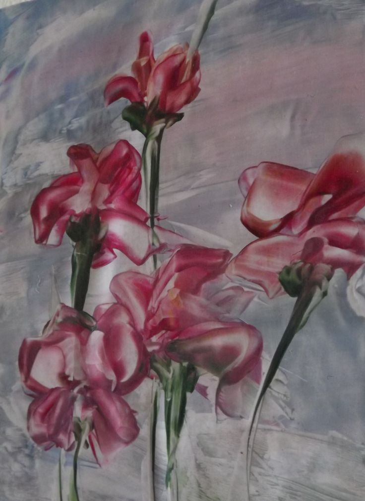 Encaustic painting done with hot iron only by Lizbeth