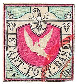 Basler Taube, Swiss stamp of 1845