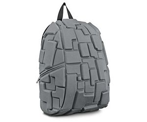 The MadPax Block Backpack is unique due to its 3D design of Tetris