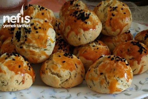 Dereotlu Minik Pastane Poğaçası Tarifi