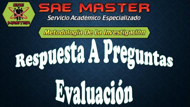 Metodologia de la Investigación - Respuestas a Preguntas
