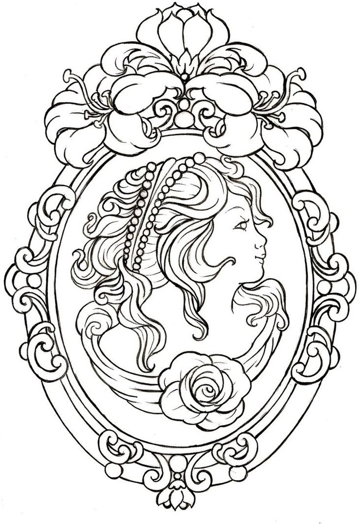 Cameo Tattoo by ~Metacharis on deviantART. An idea when I have kids...get their cameo