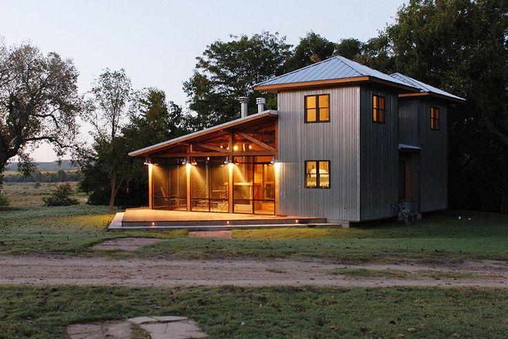 Современный дом, обшитый металлом.   #строительство #фасад #оформление #профнастил #декор #дизайн #архитектура #ОООБазисПрофнастил