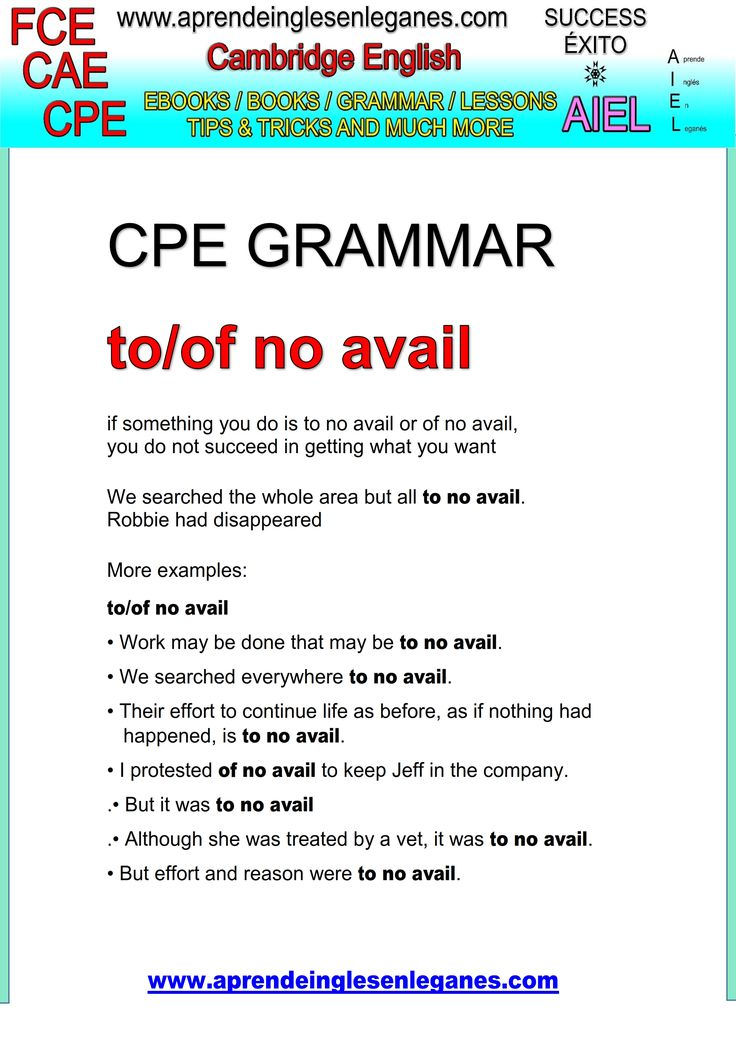 English idioms & Phrases to/of no avail CAE CPE FCE Key word transformation gramática inglesa english grammar
