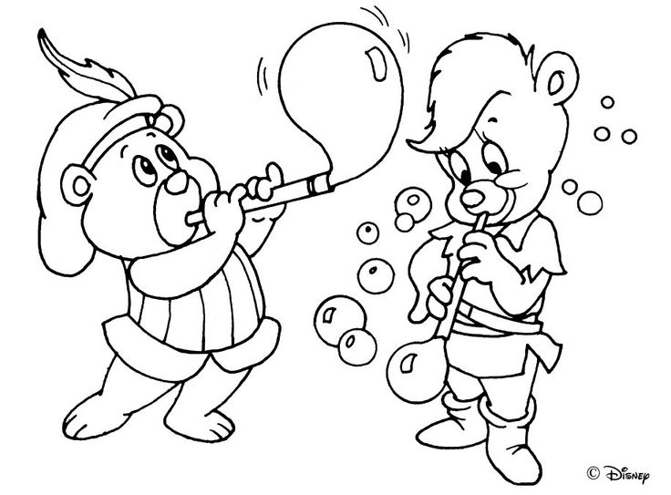 gummi bears coloring pages for kids 9