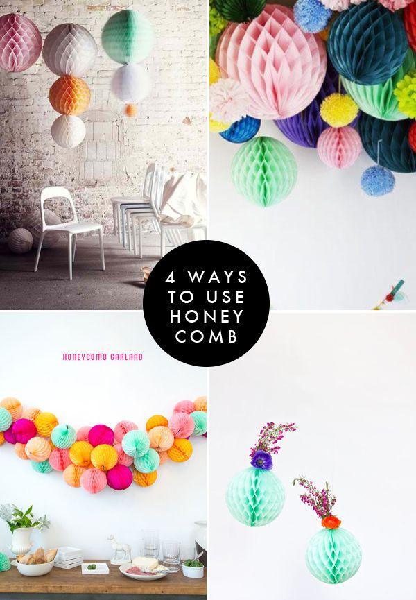 4 ways to use honeycomb | Brooklyn Bride - Modern Wedding Blog