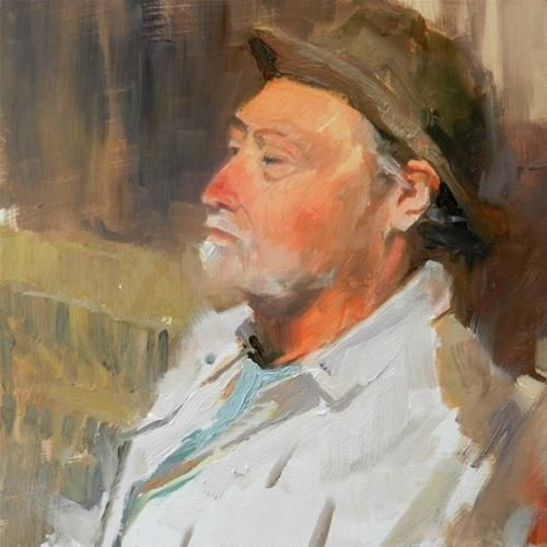 Greg o oil portrait study by robin weiss original fine for Original fine art paintings for sale