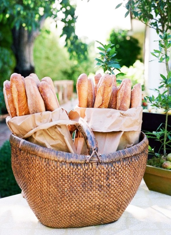 baguettes with cheeses, cut as you need