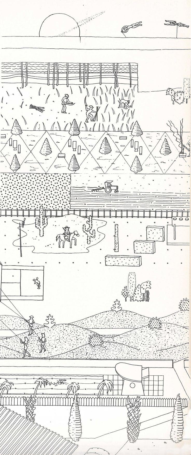 OMA, Compétition pour le parc de la Villette, 1989