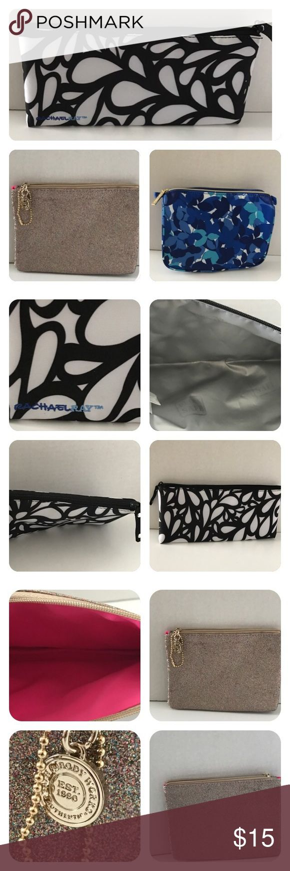 Cosmetic Bag Bundle Rachel Ray insulted Bag. Black and