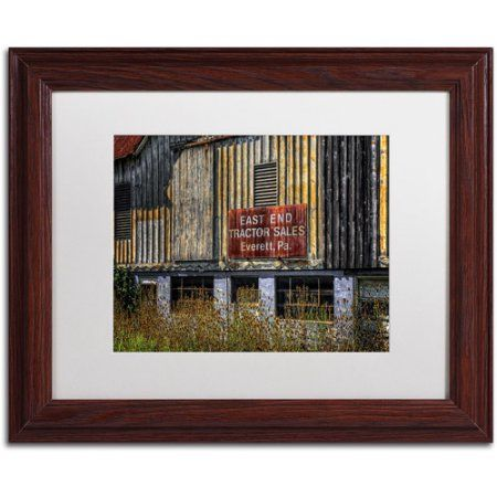 Trademark Fine Art East End Tractor Sales Canvas Art by Lois Bryan, White Mat, Wood Frame, Size: 16 x 20