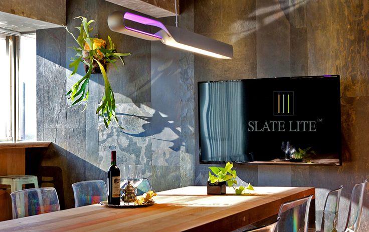 Étkező, Slate Lite California Gold ultravékony kőburkolattal