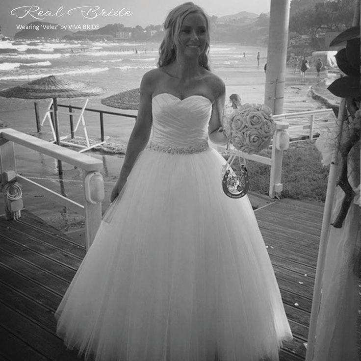 Stunning real bride Claire looks amazing in 'Velez' by Viva Bride <3 This beautiful ballgown is the perfect choice for your big day! <3 Please share your photos with us by emailing info@wed2b.co.uk <3
