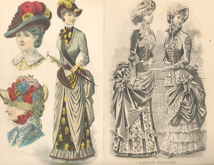 Godeys ladys book july 1883 pinned by
