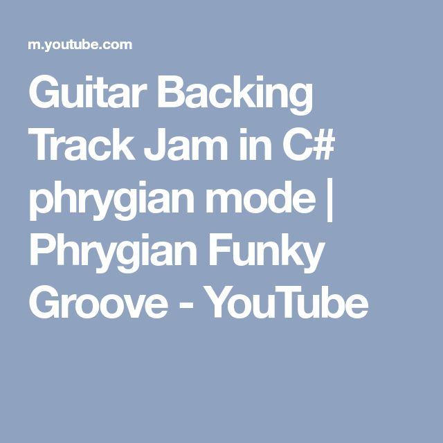 Guitar Backing Track Jam in C# phrygian mode | Phrygian Funky Groove - YouTube