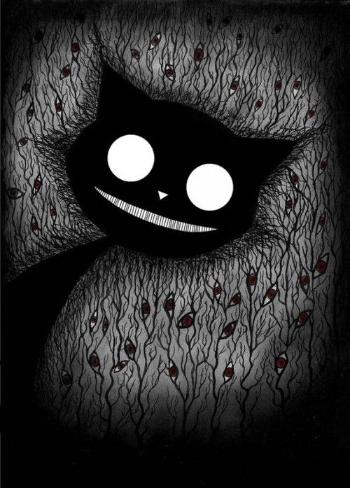 """Black Cat who could have escaped from """"Alice's Wonderland"""""""