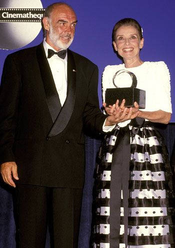 Sean Connery and Audrey Hepburn - The 7th Annual American Cinematheque Award Salute to Sean Connery in Beverly Hills, July 24, 1992