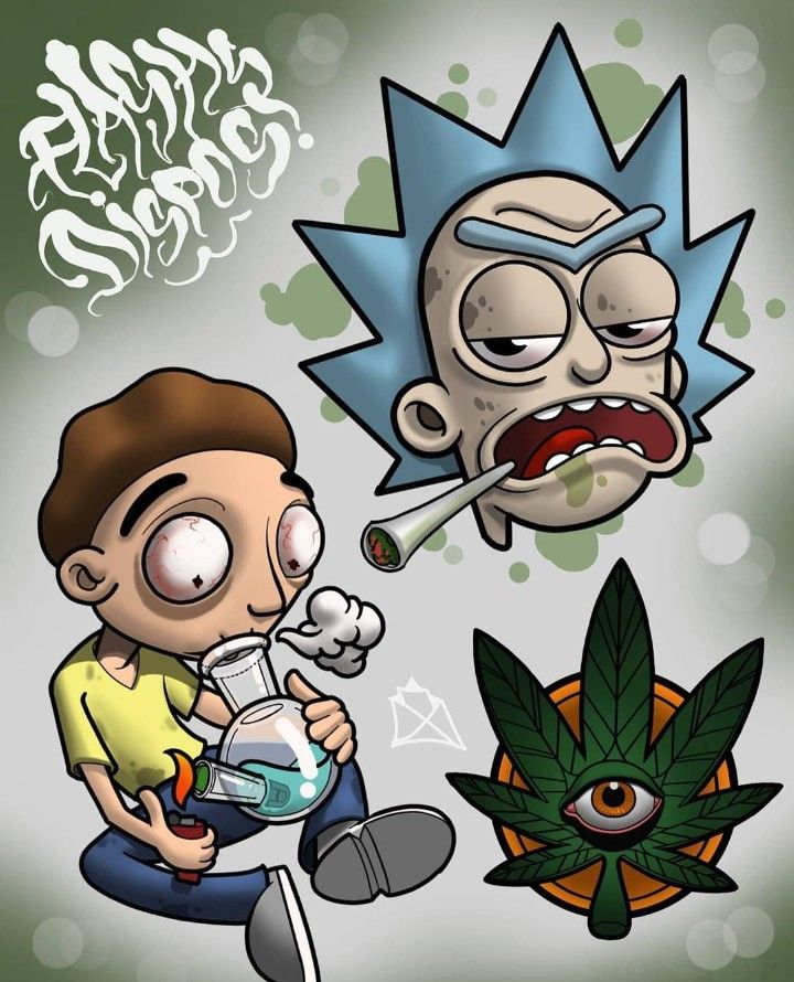 Rick And Morty X 420 Rick And Morty Poster Graffiti Rick And Morty